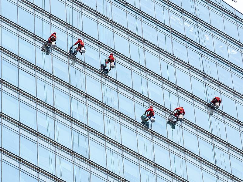 高空外墙清洗,蜘蛛人,外墙清洗,北京保洁公司,美汐清洁