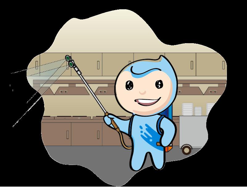 卡通保洁员,保洁公司吉祥物